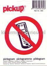 Verbod Telefoon picto sticker interieurstickers Pick-up Pictogram