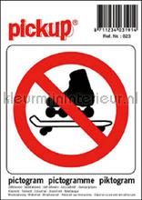 Verbod Skates picto sticker decoration stickers Pick-up Signage
