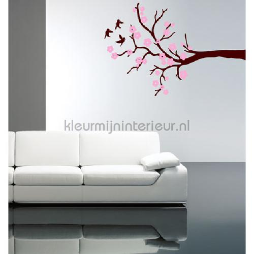 Blossom bruin en roze stickers mureaux DP-032-100 Bébé - Enfant Coart