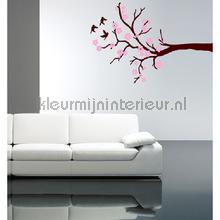Blossom bruin en roze decoration stickers Coart Coart Wall Sticker DP-032-100