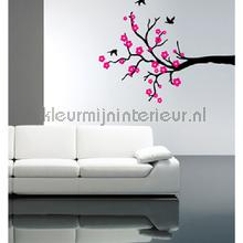 Cherry zwart en roze decoration stickers Coart Coart Wall Sticker DP-032--114