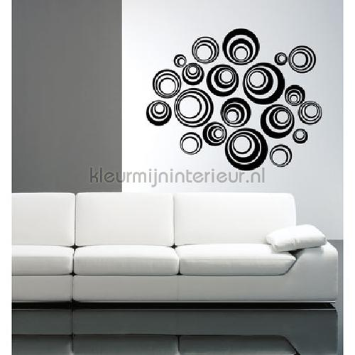 Orbital zwart wallstickers DP-071-114 abstrakte moderne Coart