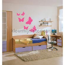 Butterfly roze decoration stickers Coart Coart Wall Sticker DP-075-108