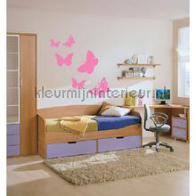 Butterfly licht roze decoration stickers Coart Coart Wall Sticker DP-075-109