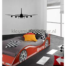 Plane zwart decoration stickers Coart teenager