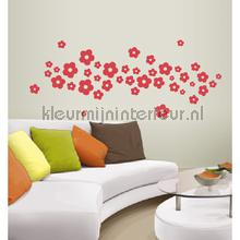 Daisy rood decoration stickers Coart Coart Wall Sticker DP-764-110