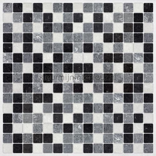 Tegel wandsticker zwart-wit interieurstickers 31313 abstract modern Crearreda