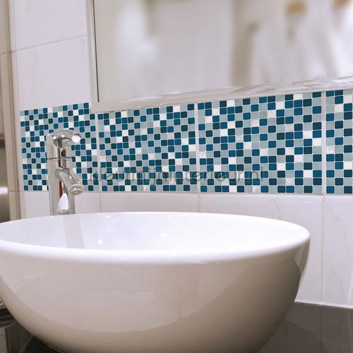 Tegel wandsticker blauw/wit wallstickers 31315 abstrakte moderne Crearreda