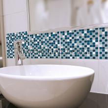 Tegel wandsticker blauw/wit interieurstickers 31315 abstract modern Crearreda