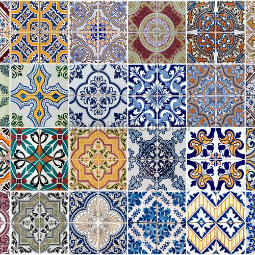 Azulejoskeukenwand sticker diverse kleuren decoration stickers 67202 kitchen Crearreda