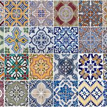 Azulejoskeukenwand sticker diverse kleuren interieurstickers Crearreda abstract modern