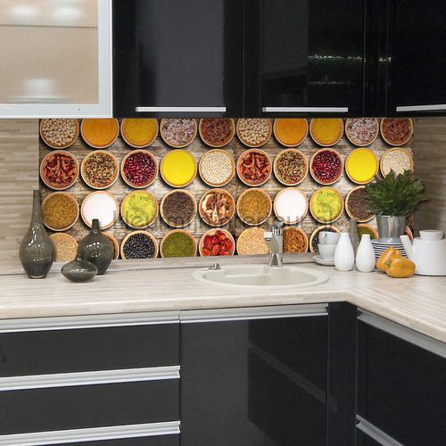 Kruiden keukenwand sticker interieurstickers 67206 abstract modern Crearreda