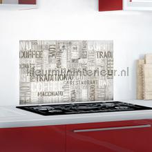 Koffie keukenwand sticker decoration stickers 67250 kitchen Crearreda