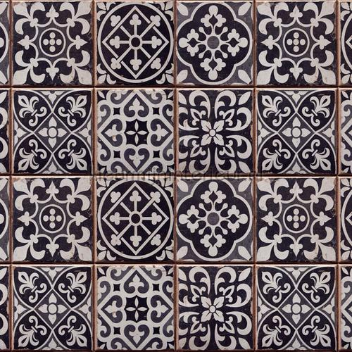 Azulejos keukenwand sticker zwart decoration stickers 67253 kitchen Crearreda
