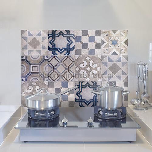 Keukenwand sticker vintage tegels wallstickers 67262 abstrakte moderne Crearreda