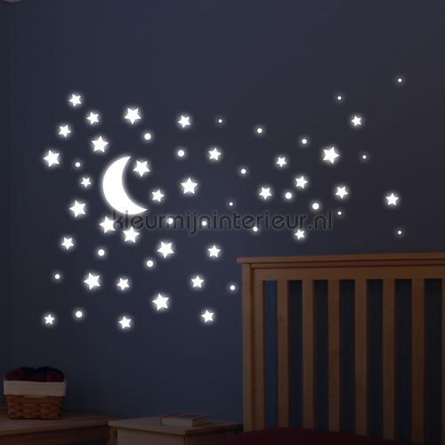 Glow in the dark stickers Maan & Sterren stickers mureaux 74001 Bébé - Enfant Imagicom