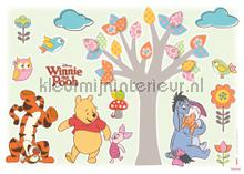 Winnie pooh nature lovers interieurstickers Komar Baby Peuter