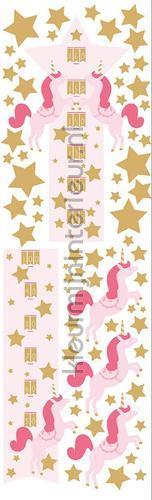 team unicorns decorative selbstkleber gpr101014138 mädchen Caselio