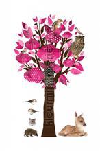 Forest friends tree rose stickers mureaux Kek Amsterdam garçons