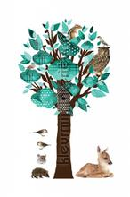 Forest friends tree turquoise wallstickers Kek Amsterdam vindue stickers