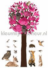 Forest friends tree xl roze decoration stickers Kek Amsterdam teenager