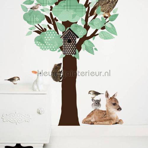 forest friends tree lichtgroen stickers mureaux ms-110 Bébé - Enfant Kek Amsterdam