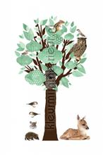 forest friends tree lichtgroen decorative selbstkleber ms-110 Baby - Kleinkind Kek Amsterdam