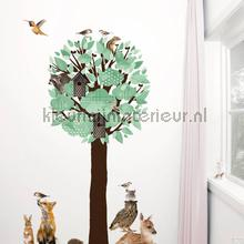 Forest friends tree xl lichtgroen interieurstickers Kek Amsterdam bloemen natuur