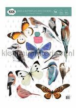 Set birds and butterflies interieurstickers Kek Amsterdam Baby Peuter