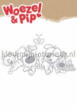 Woezel en pip xl decoration stickers Kek Amsterdam window stickers