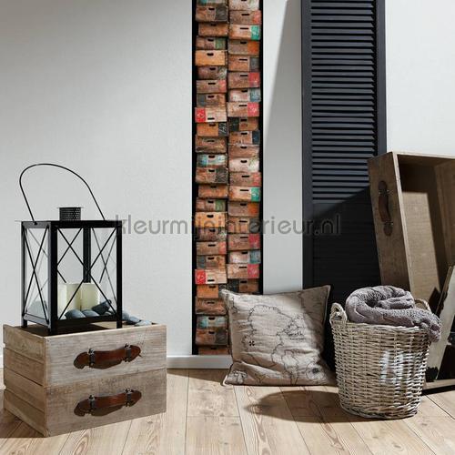Gestapelde kistjes XL sticker wallstickers 300681 abstrakte moderne AS Creation