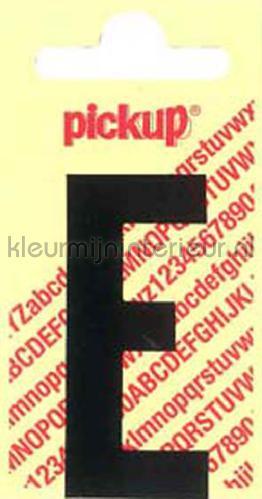 letter E Nobel wallstickers e-zwart tal og bogstaver Pick-up
