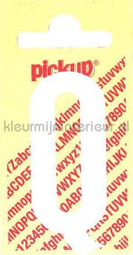 letter Q Nobel wallstickers q-wit tal og bogstaver Pick-up