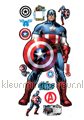 Captain America interieurstickers Walltastic jongens