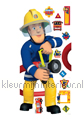 Fireman Sam decoration stickers Walltastic teenager