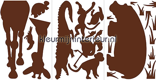 Animal Silhouettes interieurstickers RMK1324SLG aanbieding stickers RoomMates