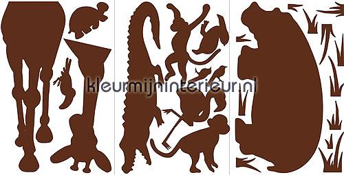 Animal Silhouettes decoration stickers RMK1324SLG jungle RoomMates