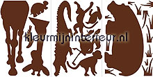 Animal Silhouettes interieurstickers RoomMates behang