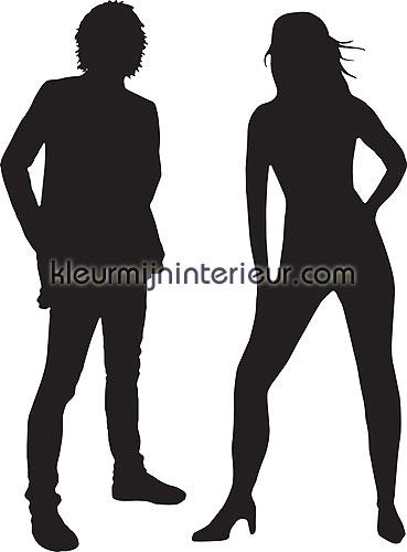 man en vrouw silhouet wallstickers 350-0039 silhuetter DC-Fix