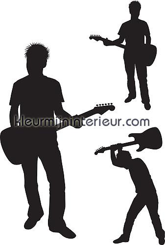 rockers silhouetten wallstickers 350-0046 silhuetter DC-Fix