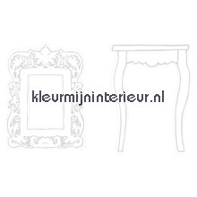 Tafel en spiegel silhouet decoration stickers Caselio sale wall stickers