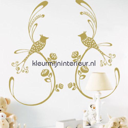 Kotori golden birds interieurstickers csx 5425 20 13 aanbieding stickers Caselio