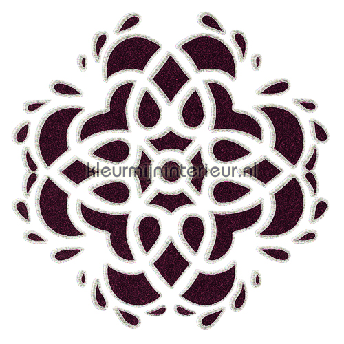 Wall tatoo velours 3 stuks adesivi murali 50010 Ornamenti - Rosette Dutch Wallcoverings