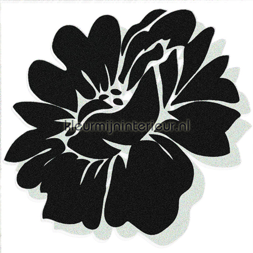 Velourse bloem 3 stuks decoration stickers 50022 sale wall stickers Dutch Wallcoverings