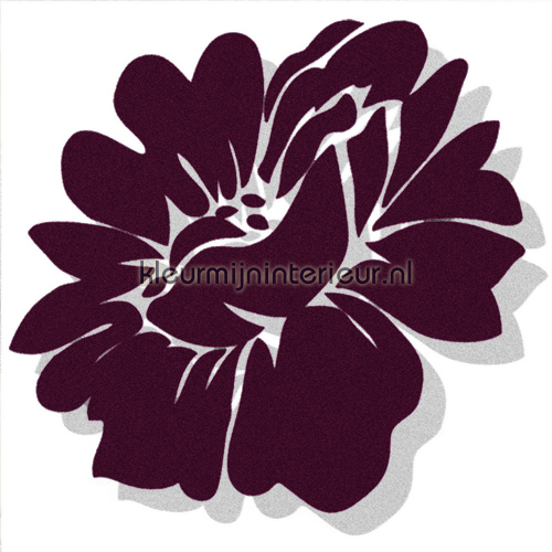 Velourse bloem 3 stuks autocolantes decoração 50025 sale wall stickers Dutch Wallcoverings