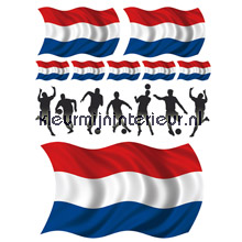 Voetballers nederland decoration stickers Decofun sale wall stickers