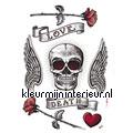 Skeleton decoration stickers Komar teenager