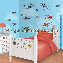 Planes sticker-set interieurstickers Walltastic jongens