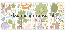 Bos dieren stickers woodland interieurstickers RoomMates Baby Peuter