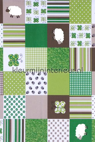 Sheep patchwork COUPON 10 mtr gordijnen 03328-01 aanbieding gordijnen
